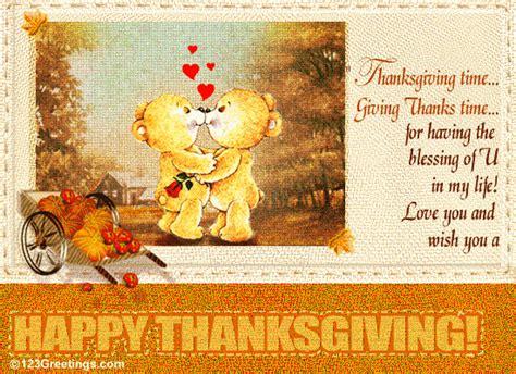 happy thanksgiving  love ecards greeting