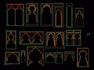 Islamic Arches 2D DWG Elevation for AutoCAD • Designs CAD