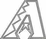 Coloring Diamondbacks Arizona Mlb Logos Colors Coloringpages101 Logodix Pdf sketch template