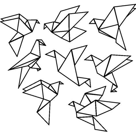 tableau deco cuisine sticker origami 8 oiseaux stickers animaux oiseaux ambiance sticker