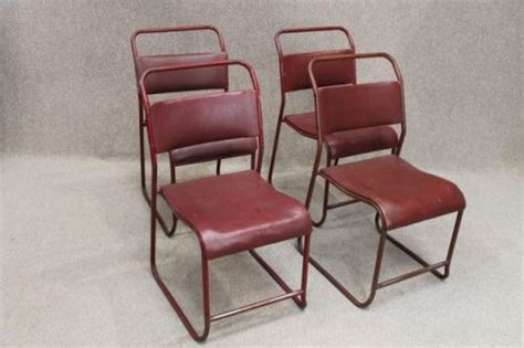 antiques atlas vintage metal stacking chair