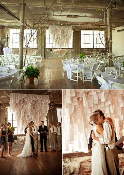 ceremony in reception hall weddingbee