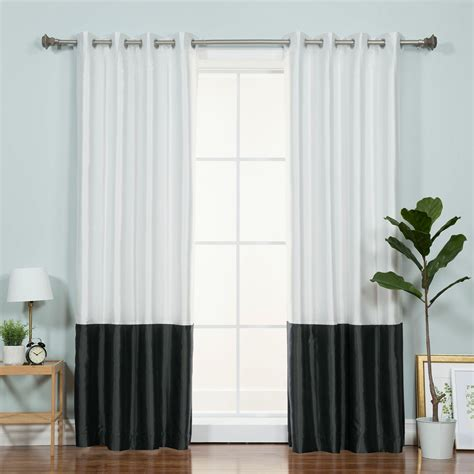 Best Curtain Panels by Best Home Fashion Inc Colorblock Single Curtain Panel