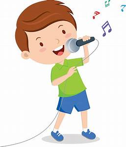 Singer clipart boy singer - Pencil and in color singer ...