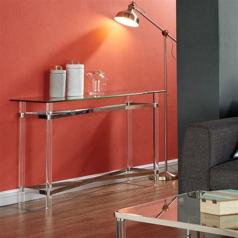 shop morelia mixed media chrome glass acrylic console