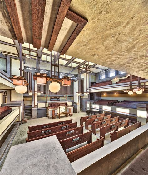 restoring frank lloyd wrights unity temple traditional