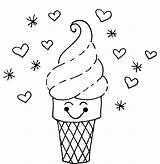 Ice Cream Coloring Pages Cone Printable Sheets Cute Drawing Creams Icecream Sheet Template Draw Sweetie Azcoloring Candy Float Icrem Forkids sketch template