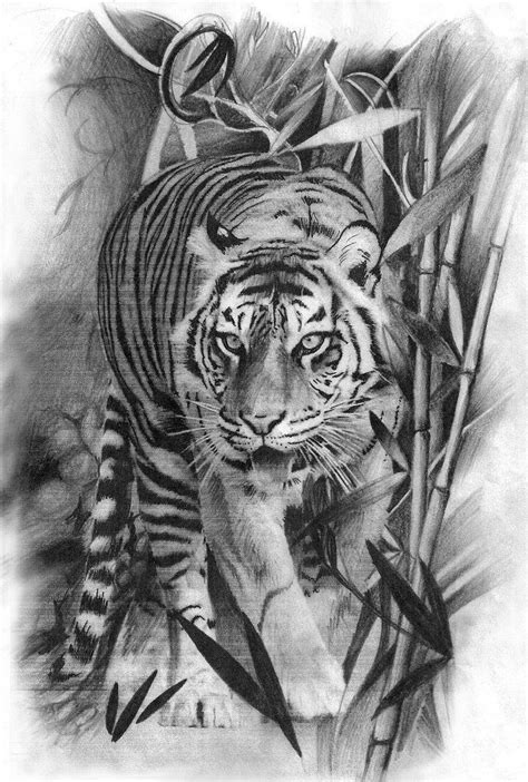 17 Best images about Tiger on Pinterest | Palette knife, Pencil drawings and Tiger tattoo design