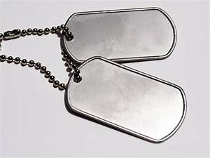 Military dog tags stock photo. Image of military, army ...