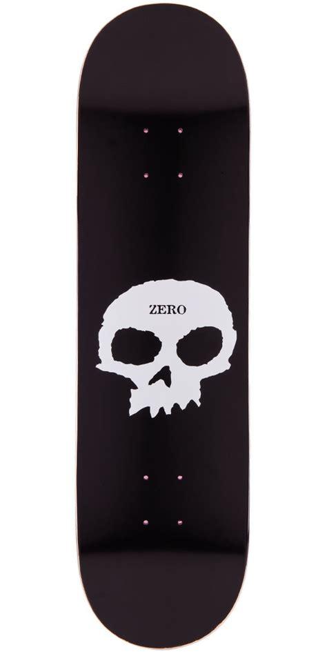zero single skull skateboard deck black white 8 5 quot