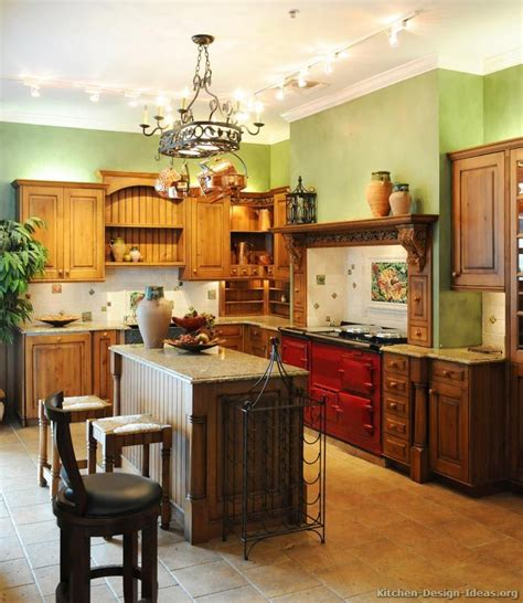 traditional italian kitchen design   red aga stove    kitchen design ideasorg