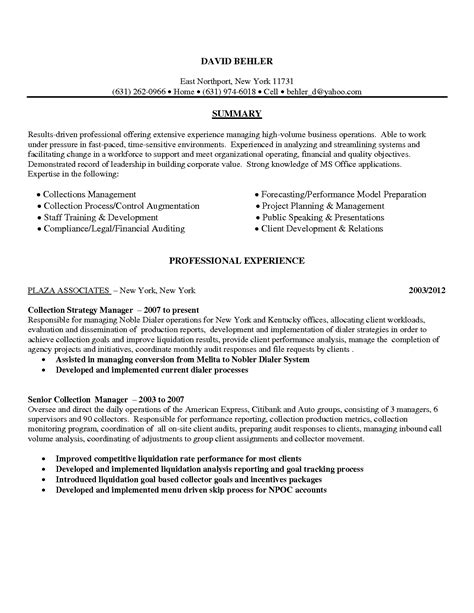 resume collections 28 images resume exles for debt
