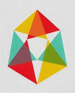 """Giclee print - """"Triangles"""" - 13"""" x 16"""" modern geometric ..."""