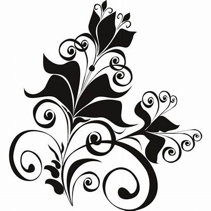 Flower Floral Designs Simple Clipart Wall Line