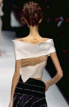 fotos mostram varias modelos extremamente magras