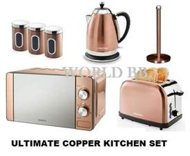 bronze kitchen canisters copper bronze microwave toaster kettle canister kitchen appliance breakfast set ebay