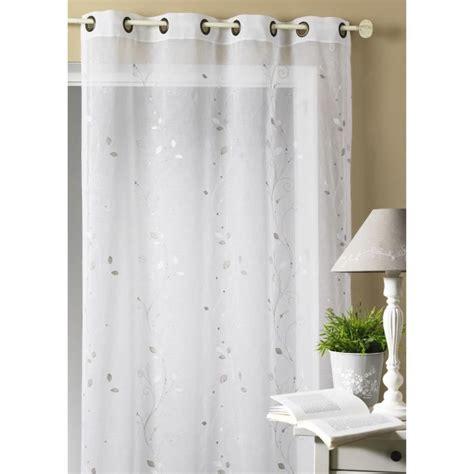 rideau occultant chambre rideau voilage brodé 39 feuillage 39 blanc 140x260 cm achat
