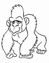 Gorilla Coloring Pages Orangutan Clipart Cute Print Animals Colouring Printable Drawings Draw Grilla Cartoon Baby Clipartion Gorila Colorings Coloringbay Getcoloringpages sketch template