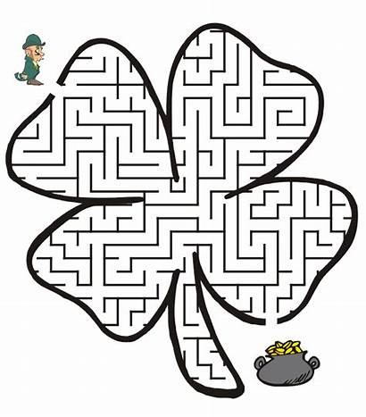 St Activities Printable Maze Patrick Patricks Leaf