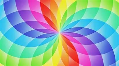 Rainbow Flower Wallpapers Desktop Roses Circles Pastel