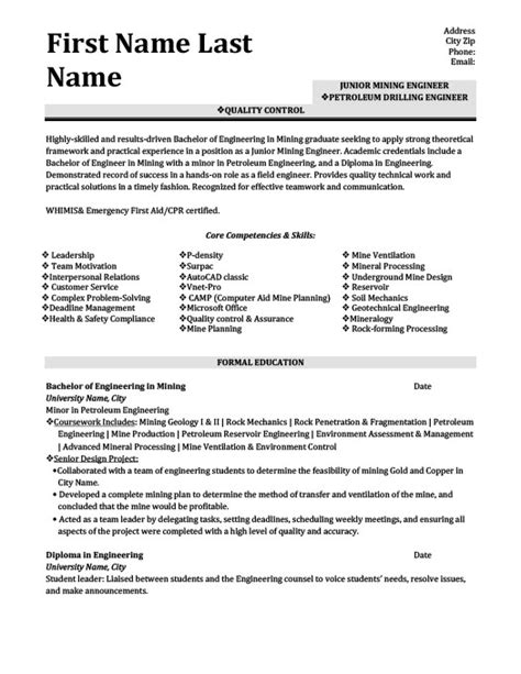 petroleum engineering resume best resume gallery