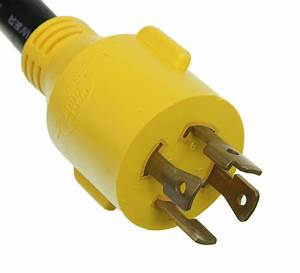 Power Grip Generator Adapter For Rv Power Cord - 125v - 30 Amps - 4 Prong Twist Lock