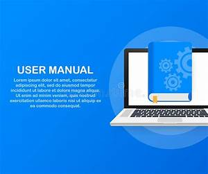 User Manual Flat Style Concept  People With Guide