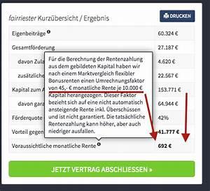 Rückkaufswert Riester Rente Berechnen : riester rente berechnen so k nnen sie ihre riester rente ~ Themetempest.com Abrechnung