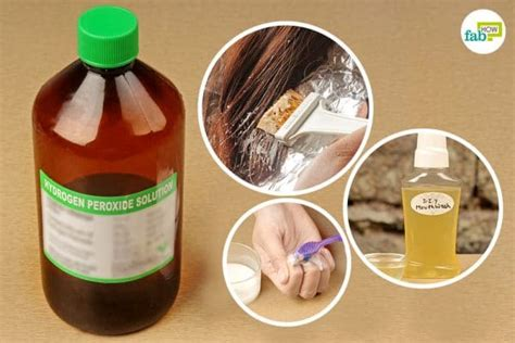 hydrogen peroxide  skin teeth hair