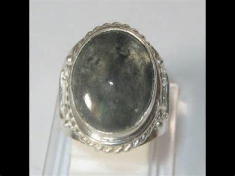 cincin pria antik batu quartz rutilated ring 7us