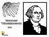 Coloring Washington Presidents George Printable President Usa Yescoloring Leader Fierce sketch template