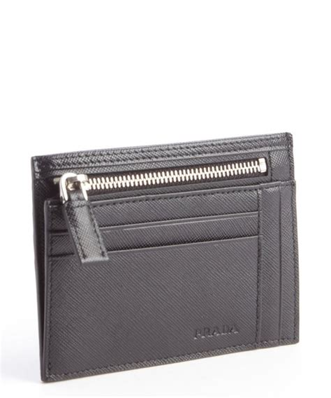 35 results for prada mens card holder. Lyst - Prada Black Leather Zip Pouch Card Holder in Black for Men