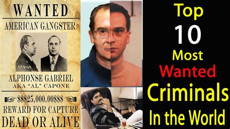 Top 10 Most Wanted Criminals In The World Youtube