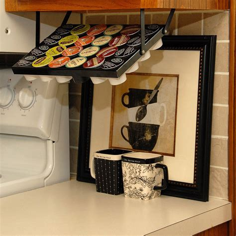coffee cup holder under cabinet under cabinet keurig k cup holder the green head