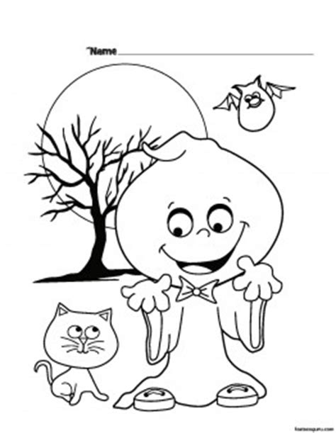 Halloween Silly Printable coloring pages for kids