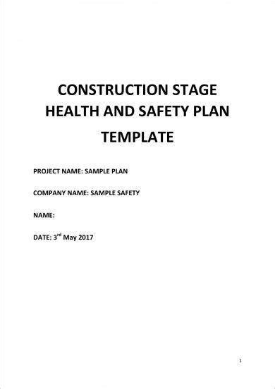 health  safety action plan examples  word
