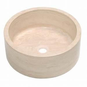 Leroy Merlin Vasque À Poser : vasque poser travertin cm blanc amelie leroy ~ Melissatoandfro.com Idées de Décoration