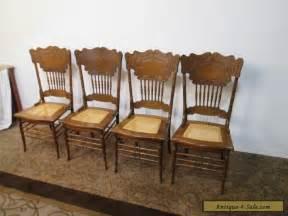 58113 t4 set 4 antique oak dining room chair s for sale