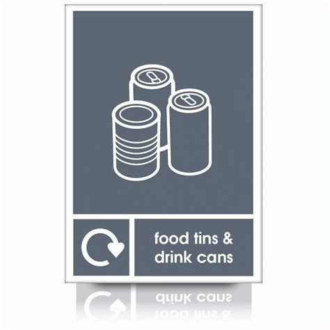 cuisine plaque buy our recycle food tins drink cans signs waste