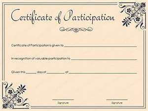 Certificate Of Participation Template Free 15 Formal Certificate Templates Certificate Templates