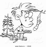 Poor Coloring Outline Poverty Cartoon Boy Clipart Wanting Template sketch template