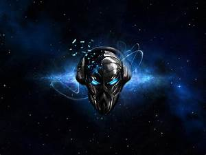 Headphones abstract outer space music blue eyes dj ...