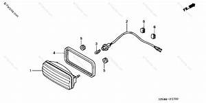 Honda Atv 2001 Oem Parts Diagram For Taillight
