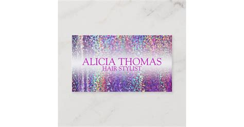 holographic hair stylist business card template zazzlecom