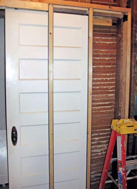 pocket door installation ideas  pinterest diy