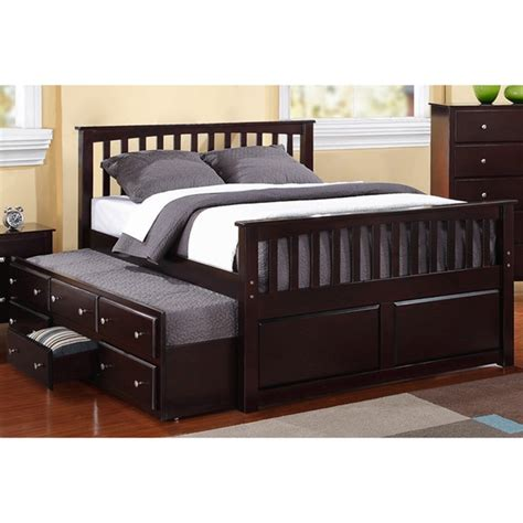 size captains bed with trundle size 3 drawer trundle captain bed 15912943