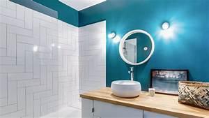 Couleur Mur Salle De Bain : peinture salle de bain 40 id es de couleurs pour une d co tendance ~ Dode.kayakingforconservation.com Idées de Décoration