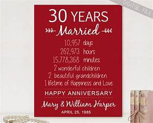 30 year wedding anniversary gift ideas for parents With 30 year wedding anniversary gifts