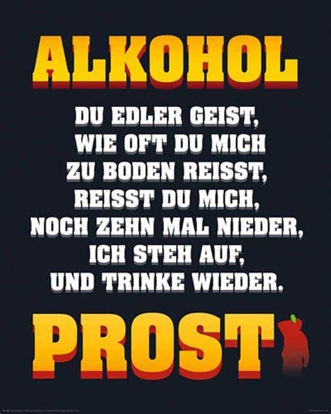alkohol edler geist mini poster 40x50