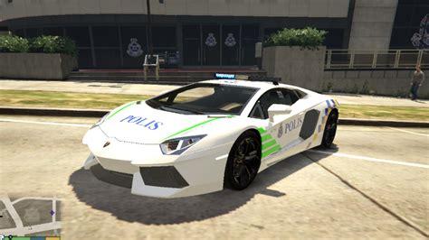 Malaysia Police Pdrm Lamborghini Aventador Gta5modscom
